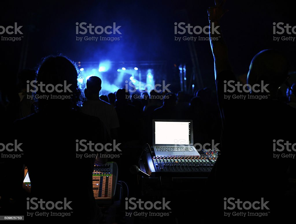 Mixer with dj. Color Image stock photo
