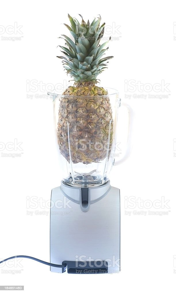 mixer with pinapple royalty-free stock photo