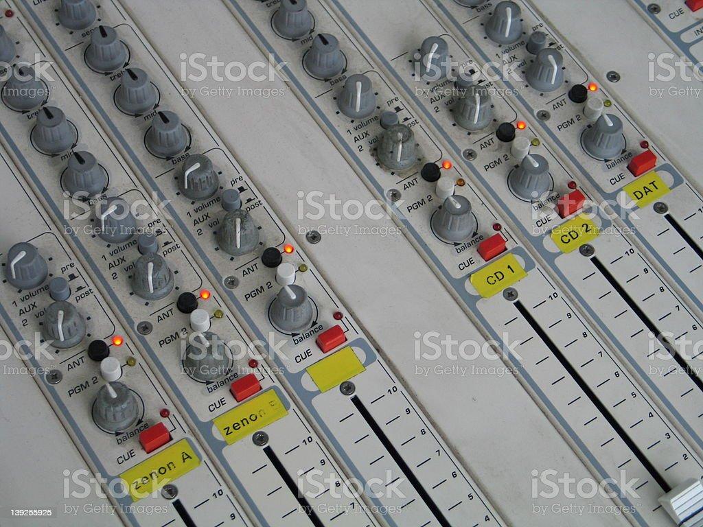 mixing board royalty-free stock photo