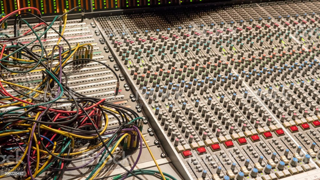 Tremendous Mixing Board With Patching Cables Stock Photo More Pictures Of Wiring Cloud Hisonuggs Outletorg
