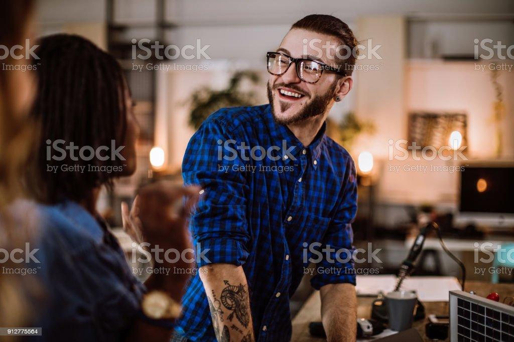 Mixing Business And Pleasure stock photo