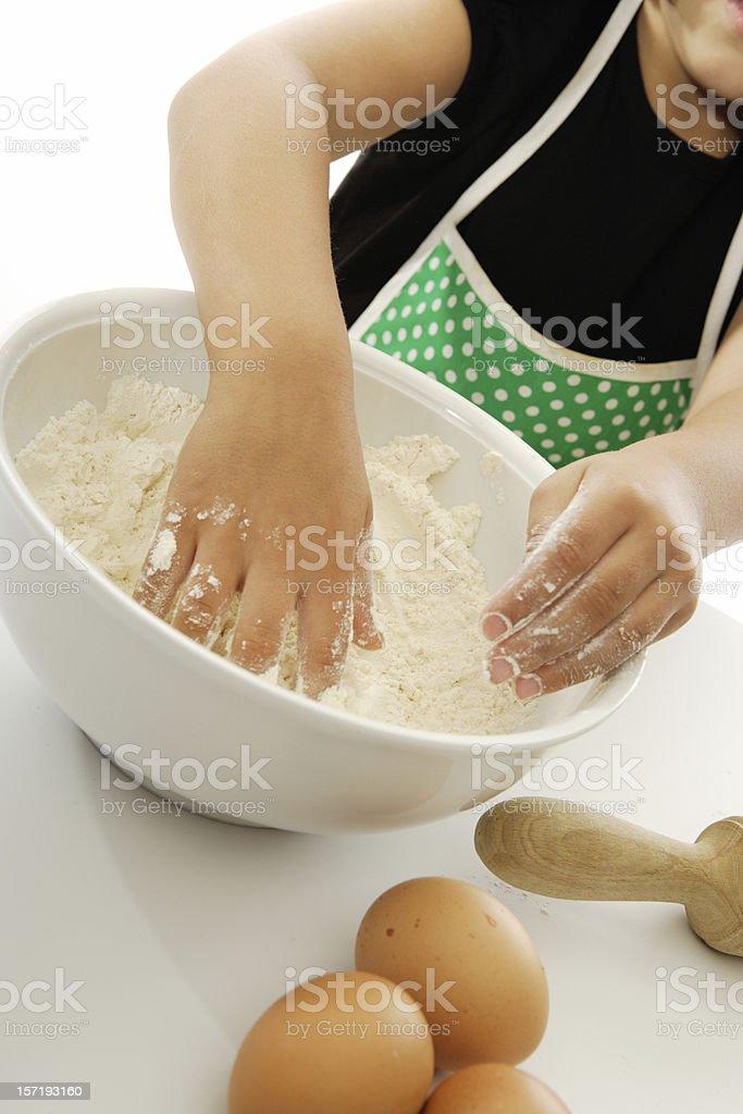 Mixing cake ingredients royalty-free stock photo