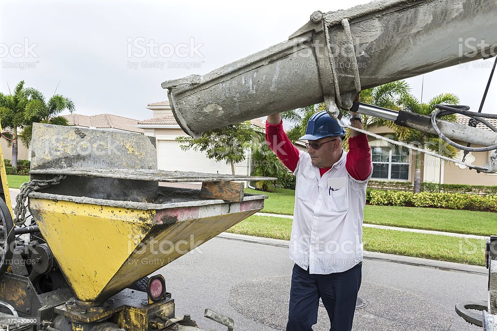 Mixing Cement royalty-free stock photo
