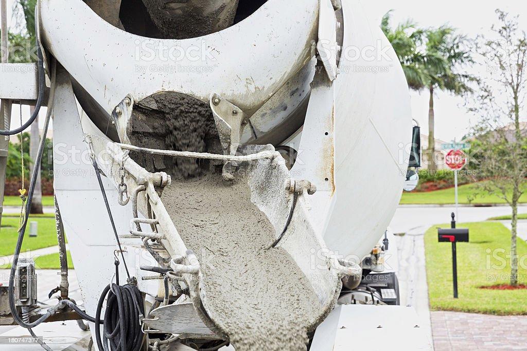 Mixing Cement stock photo