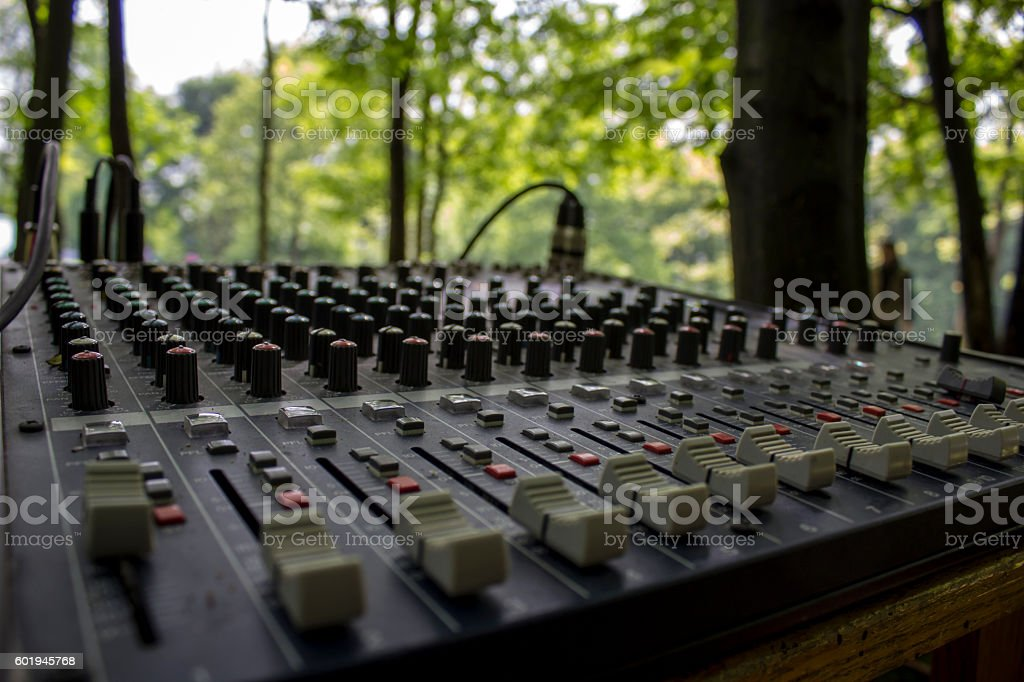 Mixing console for Music Festival