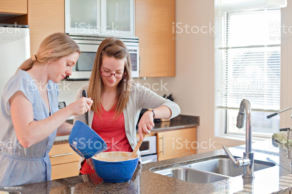 Mixing Cookie Dough foto stock royalty-free