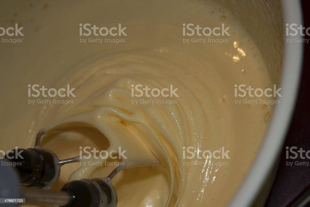 Mixing cream stock photo