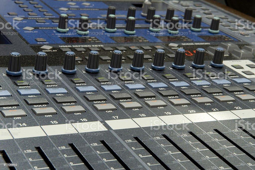 Mixing Desk royalty-free stock photo