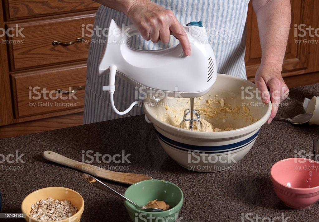 Mixing Dough royalty-free stock photo