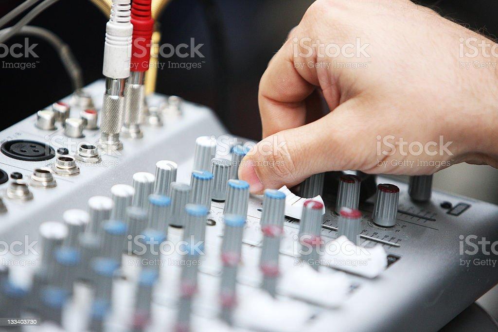 DJ Mixing royalty-free stock photo