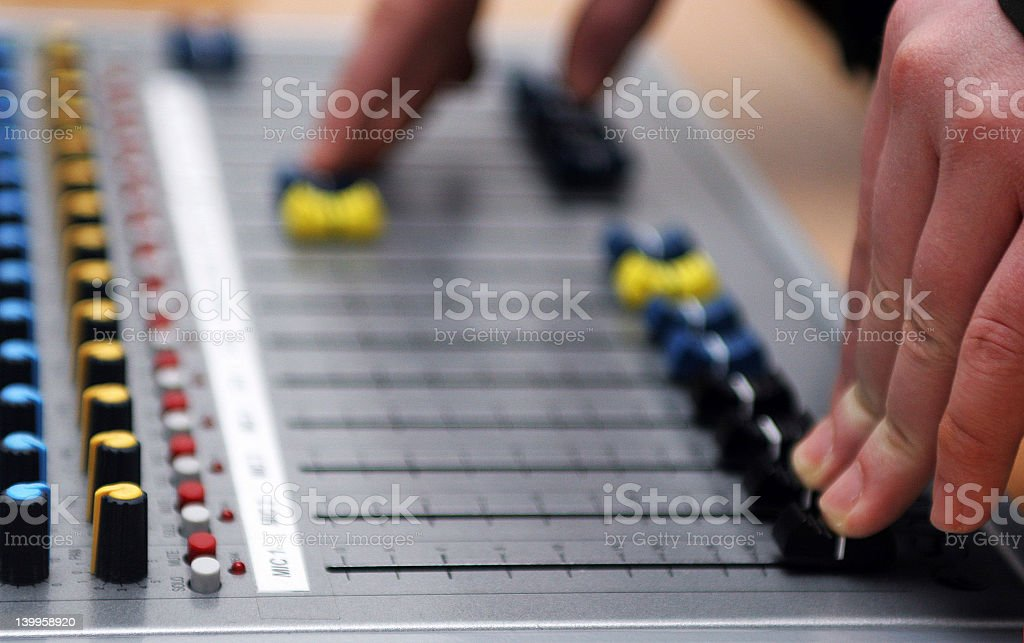Mixing pult royalty-free stock photo