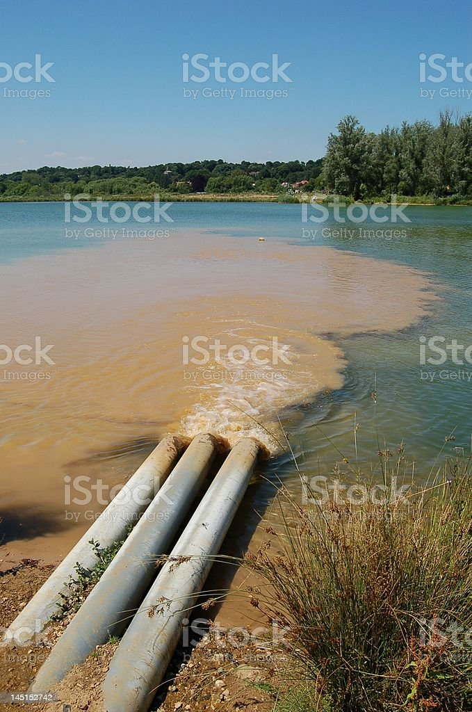 Mixing waters stock photo