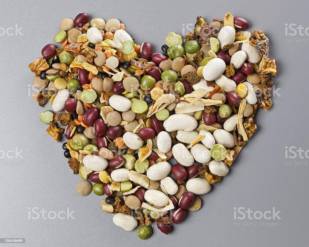 mixture of beans and spices for cooking royalty-free stock photo