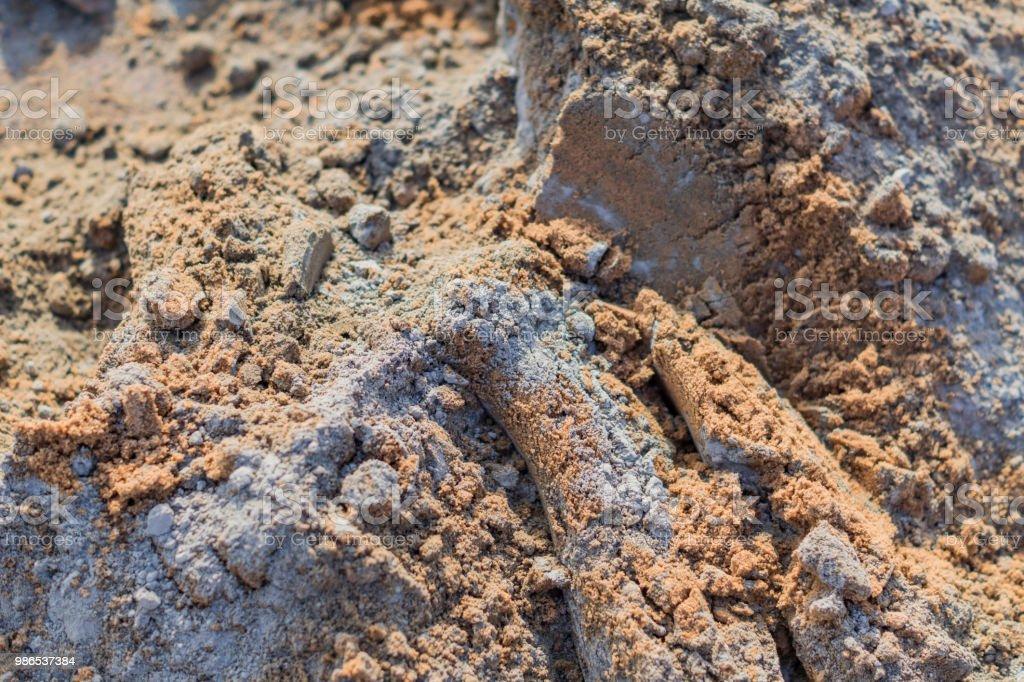 mezcla de cemento concreto y fondo de arenas - foto de stock