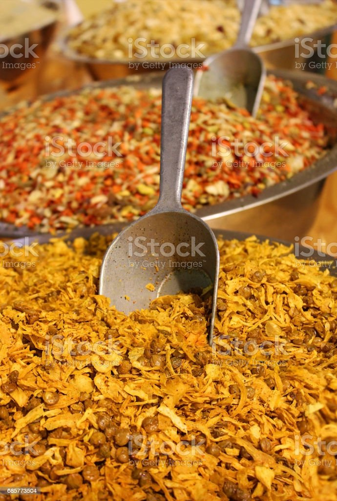 mixture of various herbs and spices royalty-free stock photo