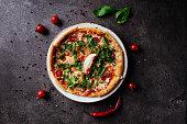 istock Mixture pizza Italian food 1198776120
