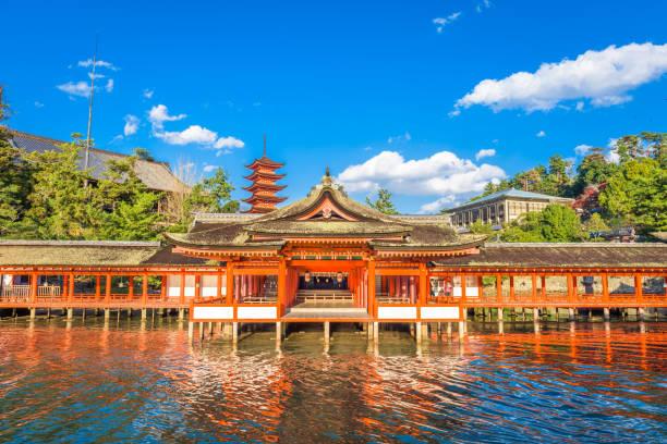 Miyajima, Hiroshima, Japan Miyajima, Hiroshima, Japan at Itsukushima Shrine. miyajima stock pictures, royalty-free photos & images