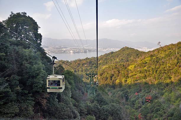 Miyajima Island Cable Car Miyajima Island Cable Car, Japan miyajima stock pictures, royalty-free photos & images