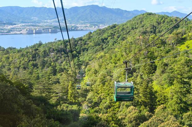 Miyajima ropeway, Hiroshima, Japan Miyajima ropeway, Hiroshima, Japan miyajima stock pictures, royalty-free photos & images