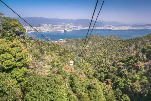 Miyajima Ropeway, the gondola in Mt Misen, Japan. Japan miyajima stock pictures, royalty-free photos & images