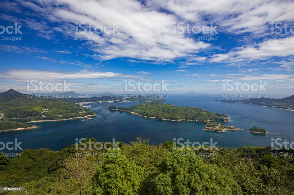 Miyanokubo Seto (Seto Inland Sea) in Japan stock photo