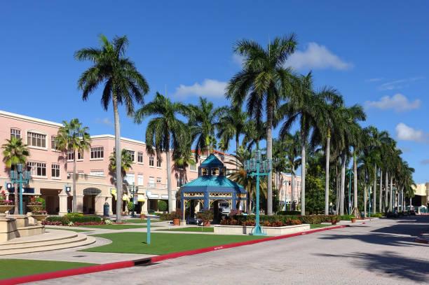 Mizner Park Shopping Center stock photo