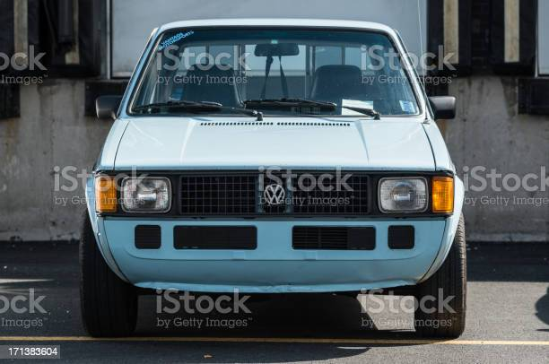 """Dartmouth, Canada - September 15, 2012: A Mk1 Volkswagen Caddy on display at the 7th annual 'Show and Go' car show hosted by CustomObsessions, CO Motorsports and Overall Custom Collision."""