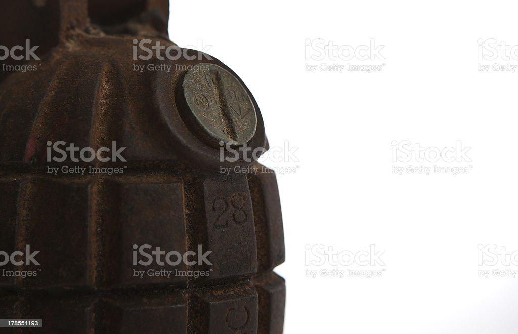 36M MkI 1940 Mills Bomb royalty-free stock photo