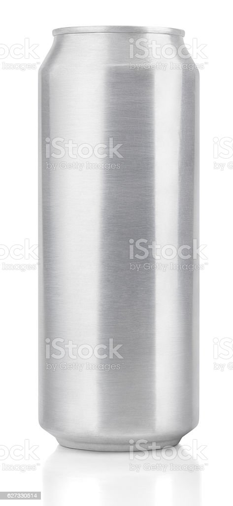 500 ml aluminum beer can stock photo