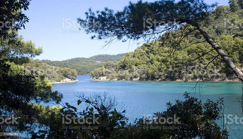 Mljet Big salt lake royalty-free stock photo