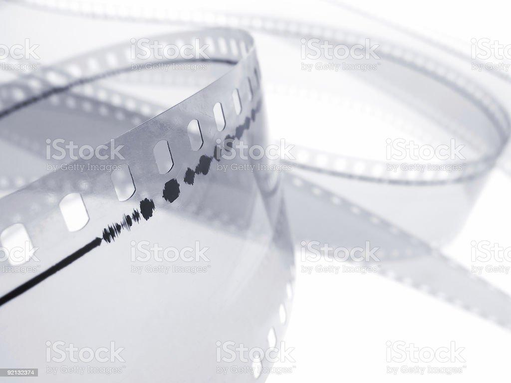 35 mm Audio Track. Macro shot stock photo