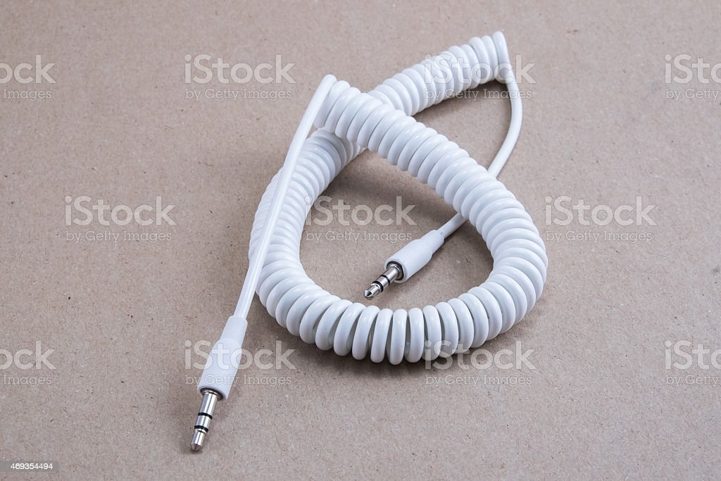 3.5 mm male to male cable stock photo