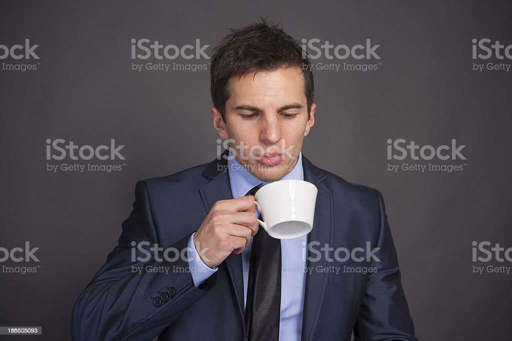 Mmmm... that's some good coffee. royalty-free stock photo
