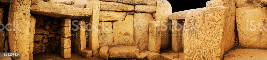 Mnajdra Megalithic Ruins royalty-free stock photo