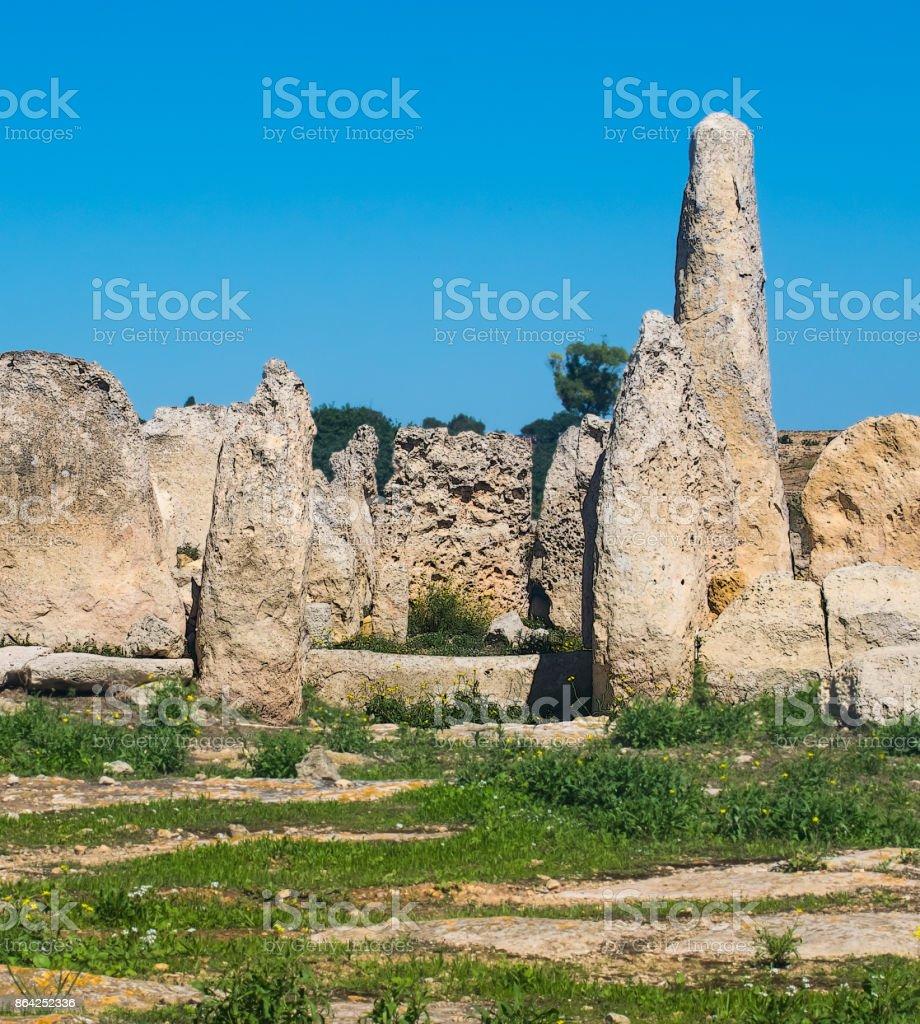 Mnajdra Megalithic Stones royalty-free stock photo