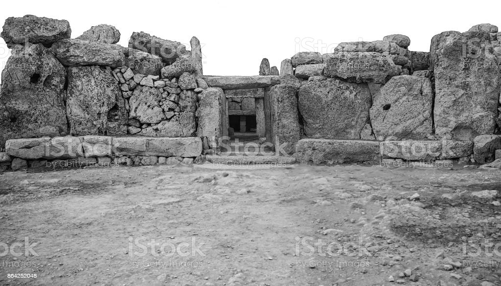 Mnajdra Megalithic Temple Ruins royalty-free stock photo