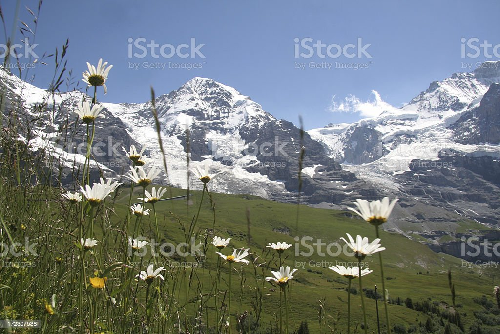 Mönch and top of Europe stock photo
