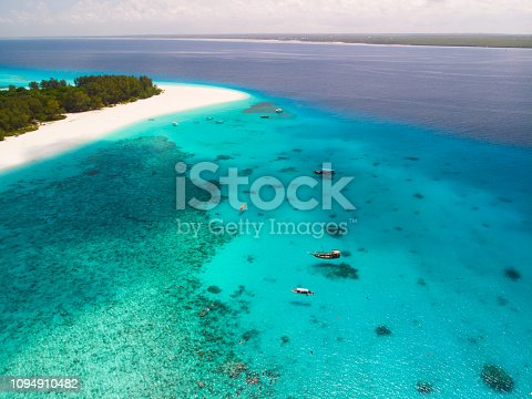 The Mnemba atoll on the east coast of Zanzibar
