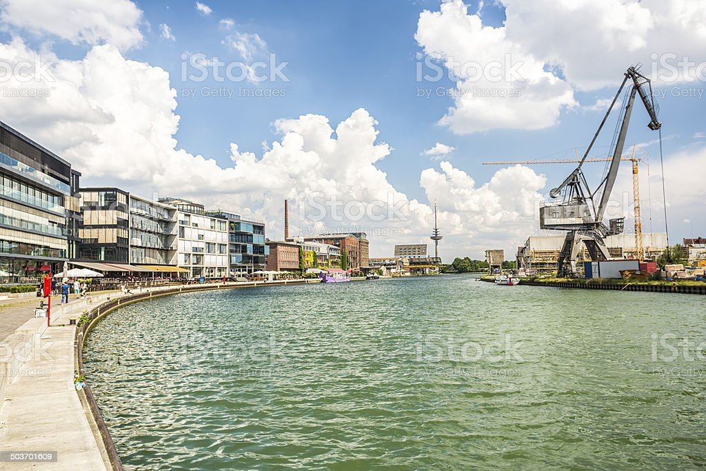 Münster harbor (Nordrhein Westfalen) stock photo