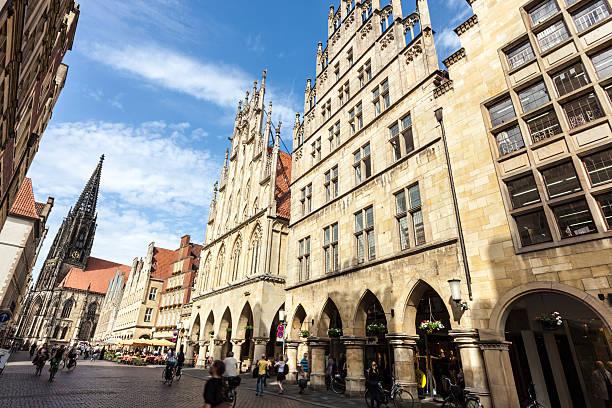 Münster - Prinzipalmarkt, Germany Münster - Prinzipalmarkt, Germany north rhine westphalia stock pictures, royalty-free photos & images