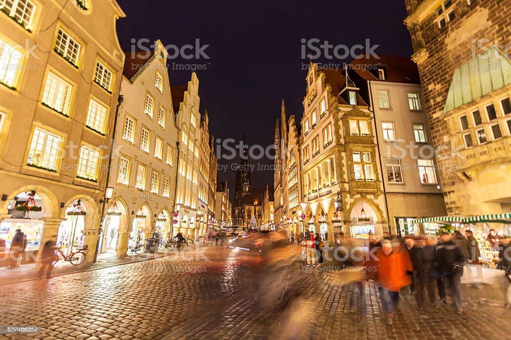 Münster - Prinzipalmarkt, Germany stock photo
