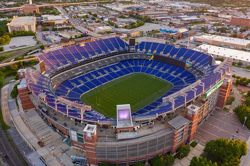 Baltimore, MD, USA - June 22, 2019: MnT Bank Stadium Baltimore MD