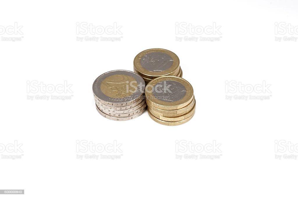 Münzen Geld stock photo