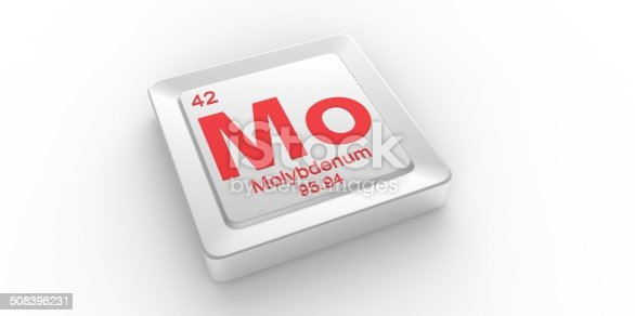Mo Symbol 42 Material For Molybdenum Chemical Element Stock Photo