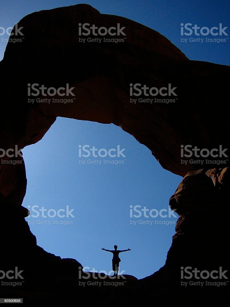 Moab Arch royalty-free stock photo