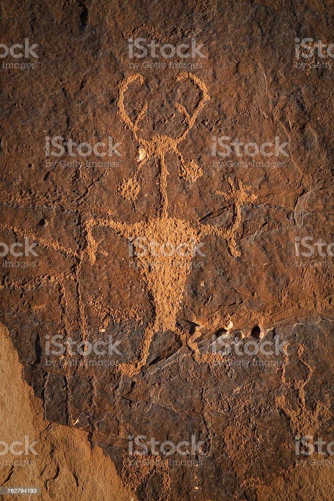 Moab Man Petroglyph royalty-free stock photo