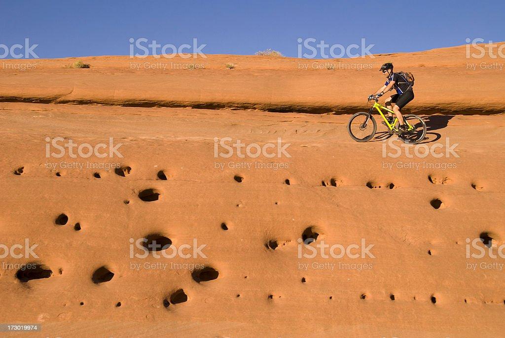 Moab Slickrock Mountain Biking royalty-free stock photo