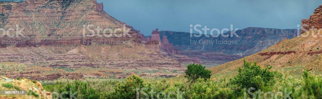 Moab Valley landschap - Royalty-free Atmosferische lucht Stockfoto