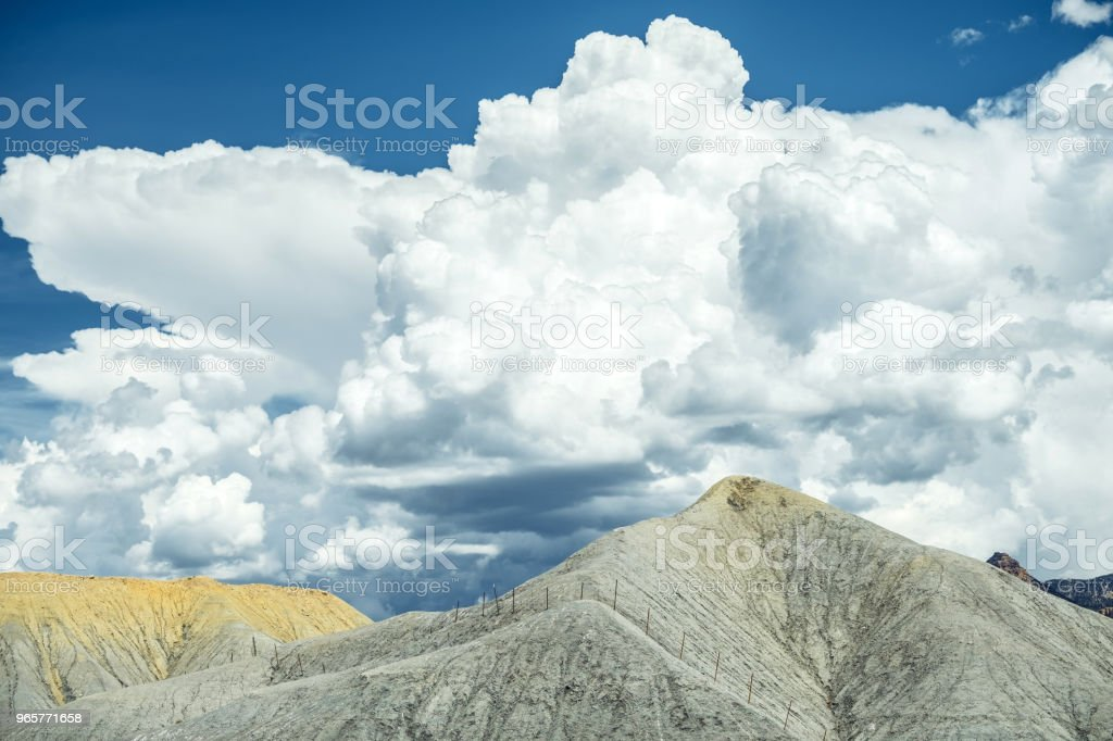 Moab Valley landschap - Royalty-free Atmosferische lucht Stockfoto