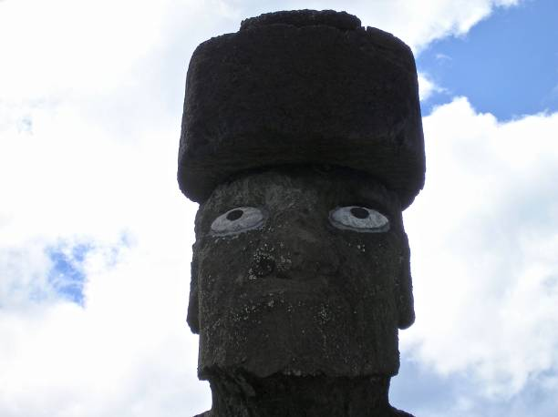 moai headshot - mcdermp stock pictures, royalty-free photos & images